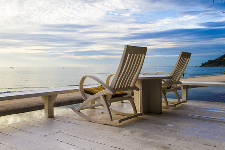 Rocking Chair at the terrace, Sunrise
