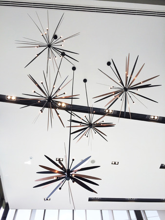 ceiling design: lamp design in ceiling