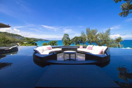 Sofa Cushion on the pool