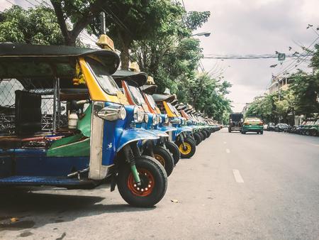 Auto Rickshaw, TukTuk Thailand Stock Photo