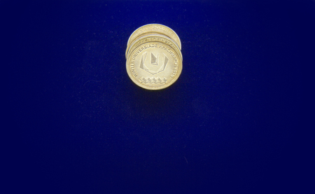 Coins with the emblem of the Universiade.
