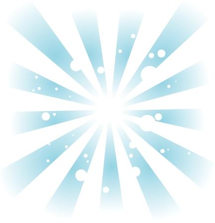 vereenvoudigen: Abstracte achtergrond uit blauwe balken en witte cirkels. Stock Illustratie