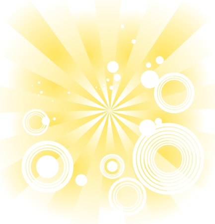 The gold stylized background with circles and missing beams. Stock Vector - 1868090