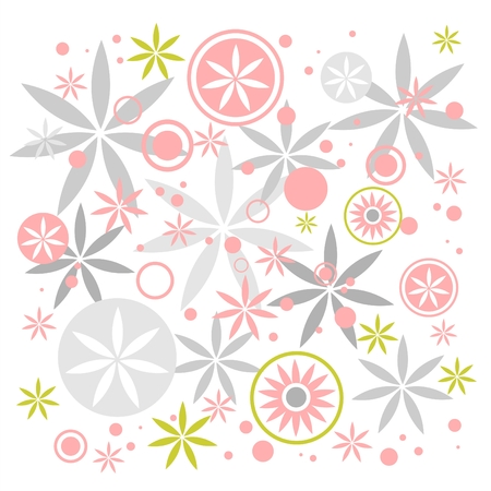Abstract pastel flowers composition on a  white background. Stock Vector - 1904609