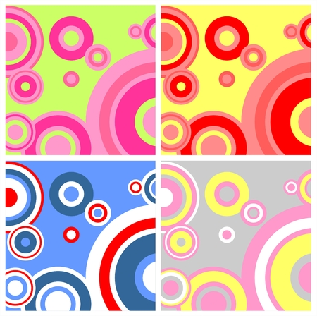 nuance: Four variants of a background with circles of different colors.