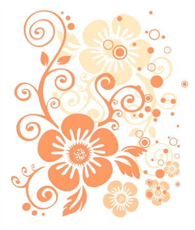 Pattern from the pink stylized flower ornament on a white background. Stock Vector - 1934535