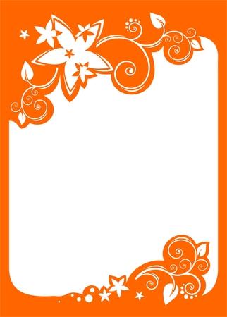 White flowers pattern on a white background. Digital illustration. Stock Vector - 2032656
