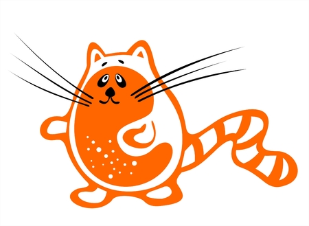 fondly: The orange stylized cat on a white background.