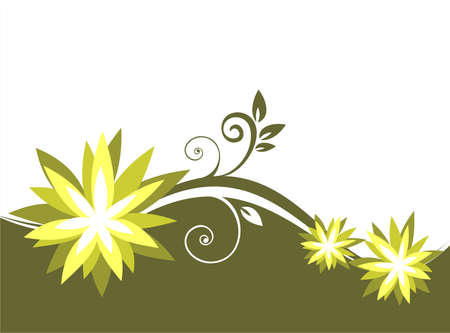 fondo verde oscuro: Bot�nica estilizado modelo de color verde oscuro sobre un fondo. Ilustraci�n digital. Vectores