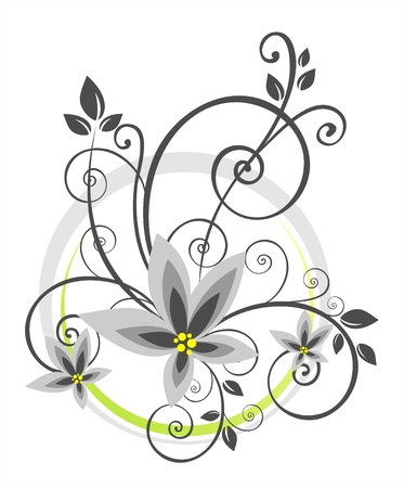 floral vector:  floral pattern on a white background. Digital illustration.
