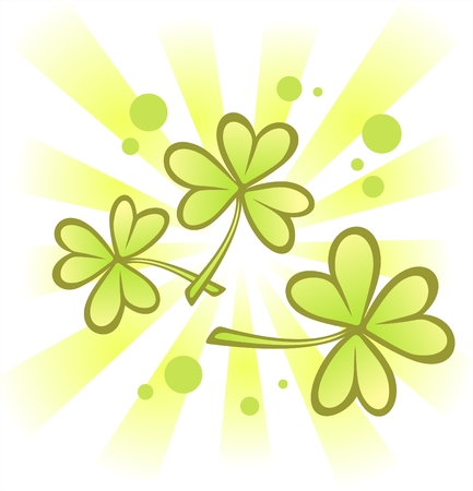 Striped background with clover  for St. Patrick's Day. Stock Vector - 2554526
