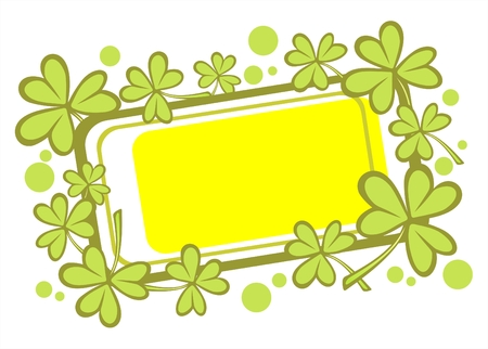 Ornate frame with clover  for St. Patrick's Day. Stock Vector - 2602084