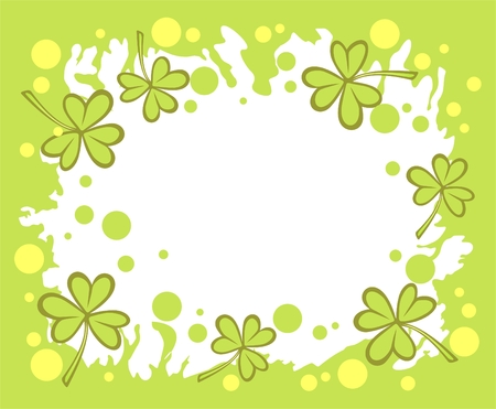 Stylized clover pattern  for St. Patrick's Day. Stock Vector - 2602087
