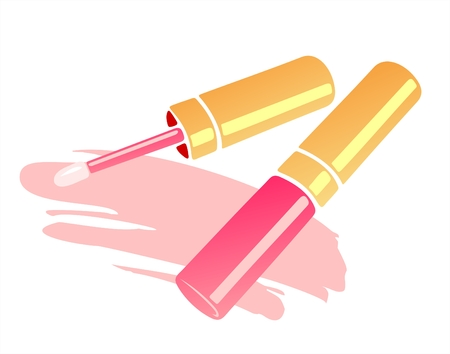 Stylized liquid lipstick isolated on a white background. Vector