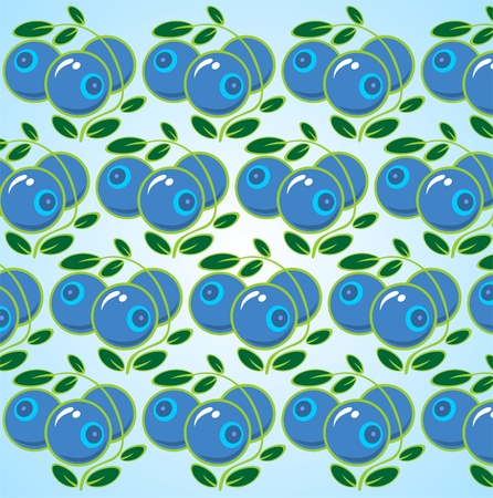 whortleberry: Ornate bilberry with leaves on a blue background.