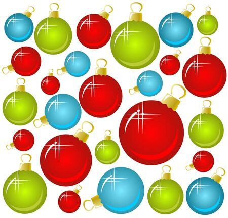 christmastree: Christmas-tree balls on a white background. Christmas illustration.