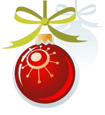 christmastree: Christmas-tree ball isolated on a white background. Christmas illustration.