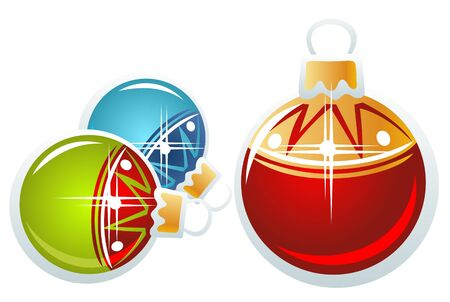 Christmas-tree ornate balls isolated on a white background. Vector