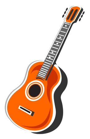 Stylized acoustic guitar isolated on a white background.