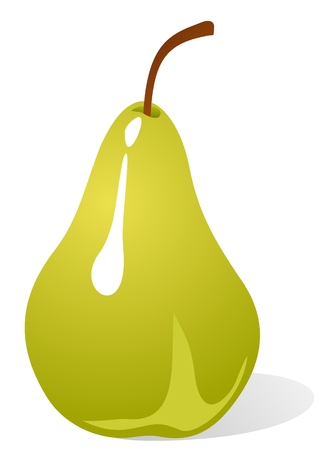 Stylized green pear isolated on a white background. Stock Vector - 4360075
