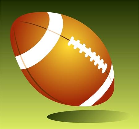 ballon de rugby: Ballon de rugby isol� sur un fond vert. Illustration