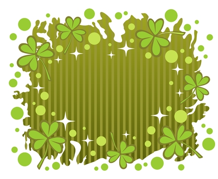 Stylized clover background  for St. Patricks Day. Vector