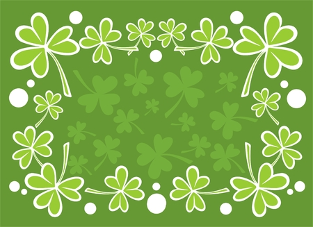 Stylized clover pattern  for St. Patricks Day. Vector