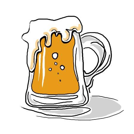 Stylized beer mug isolated on a white background. Stock Photo - 6477268