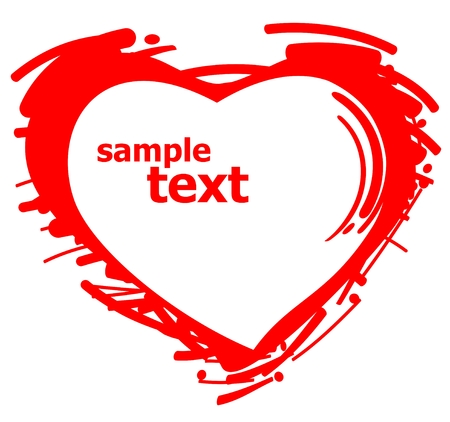 Stylized heart silhouette isolated on a white background. Illustration