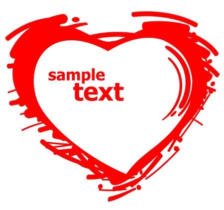 corazon dibujo: Silueta de coraz�n estilizada aislado en un fondo blanco.
