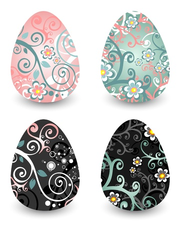 Easter eggs set isolated on a white background Stock Vector - 12934726