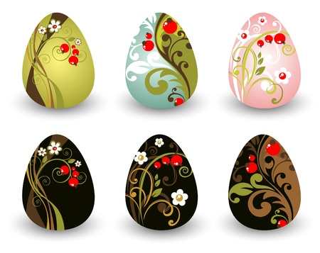Easter eggs set isolated on a white background Stock Vector - 12934730