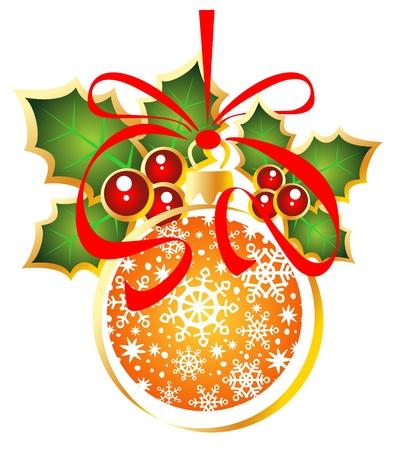 クリスマス ボールの白い背景で隔離されました。  イラスト・ベクター素材