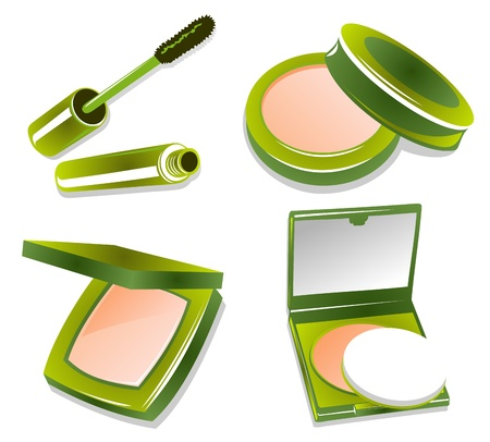 Cosmetic set isolated on a white background  Illustration