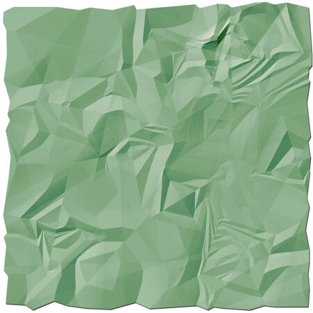 Crumpled paper sheet on a white background