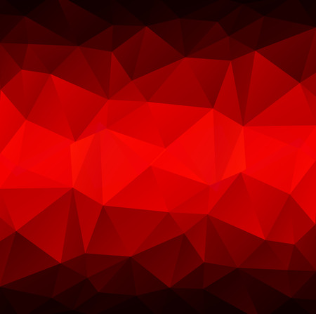 polyhedron: Abstract polygonal background with light and dark red triangles.