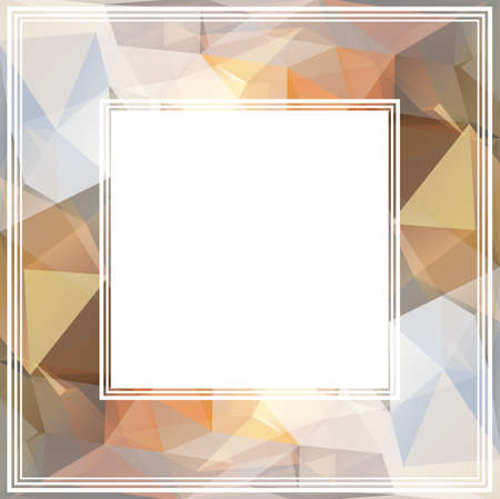 light brown: Abstract polygonal border with light brown triangles. Stock Photo