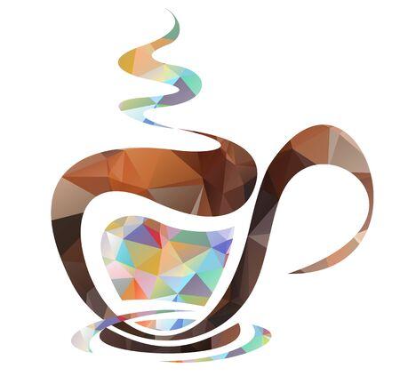 tea set: Stylized tea set and set isolated on a white background.
