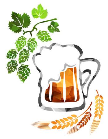 suds: Stylized beer mug isolated on a white background.