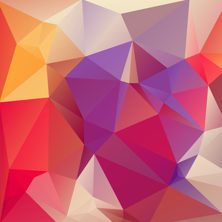 Abstract polygonal background with pink and violet triangles.