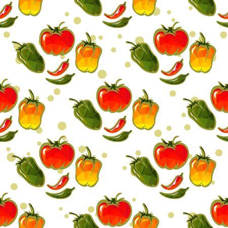 paprika: Paprika on a white background Illustration