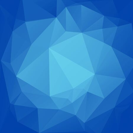 polyhedron: Polygonal abstract background with light and blue triangles. Illustration