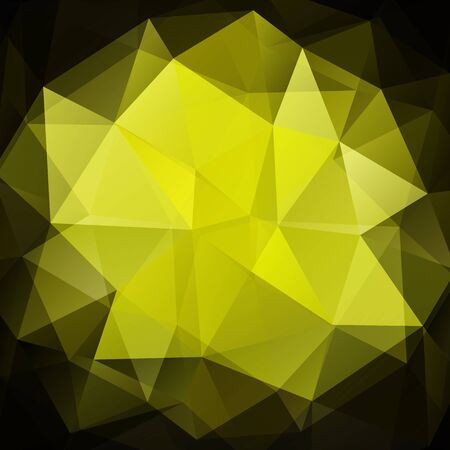 drawings image: Polygonal abstract background with dark and yellow triangles Illustration
