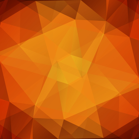drawings image: Polygonal abstract background with light and dark orange triangles