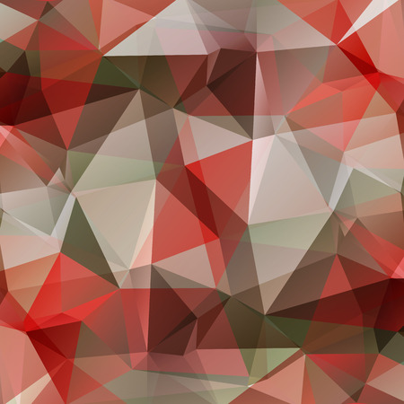 grey pattern: Polygonal abstract background with red and gray triangles. Illustration
