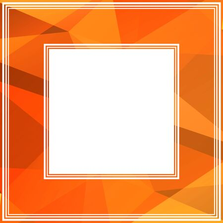polyhedron: Abstract polygonal border with bright orange triangles.