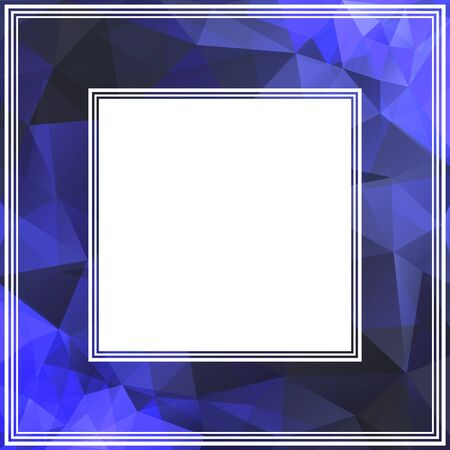 bright: Abstract bright border with dark and bright blue triangles.