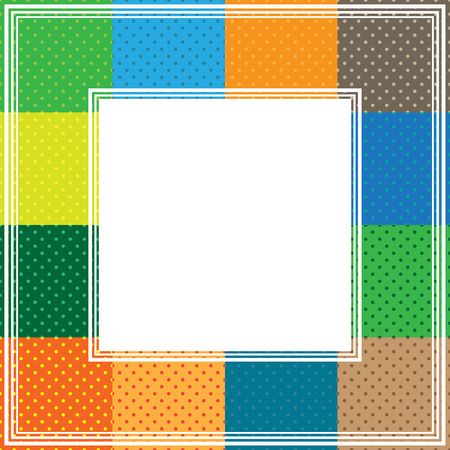 multicolored: Border with abstract multicolored polka dot frames.