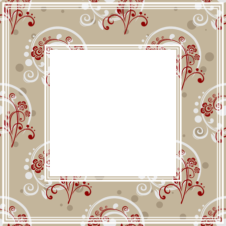 floral border: Abstract floral border on a gray background.