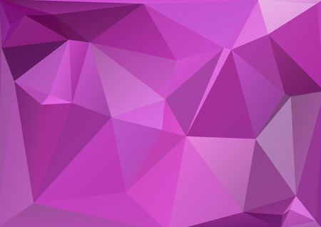 bright: Polygonal abstract background with bright purple triangles.